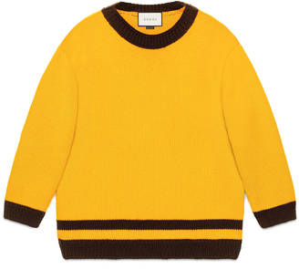 Wool sweater with contrast trims $1,030 thestylecure.com