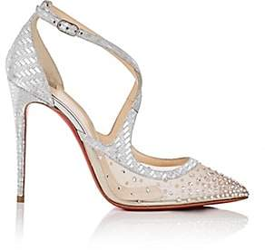 Christian Louboutin Women's Twistissima Strass Ankle-Strap Pumps - Version Crystal