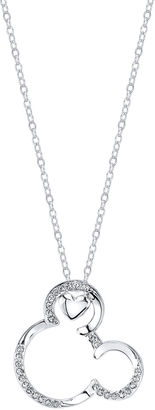 DISNEY Disney Mickey Mouse Silver Over Brass Pendant Necklace $19.99 thestylecure.com