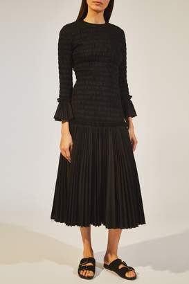 KHAITE The Mariella Dress in Black