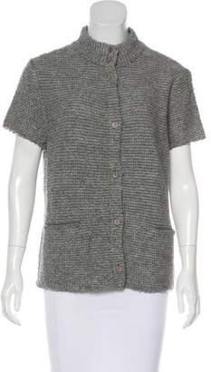 Eileen Fisher Wool Short Sleeve Cardigan