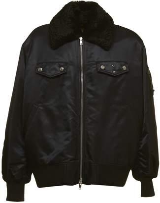 Calvin Klein Fur Collar Bomber Jacket
