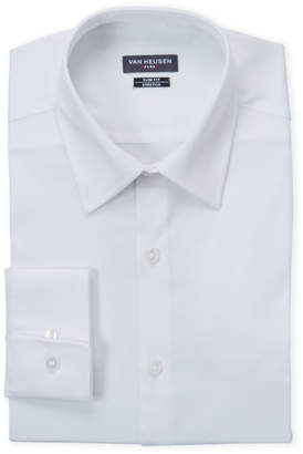 Van Heusen White Stretch Slim Fit Dress Shirt