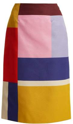Mary Katrantzou Sigma Ottoman Colour Block Pencil Skirt - Womens - Multi