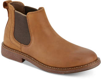 Dockers Men Stanwell Leather Slip-On Chelsea Boots Men Shoes