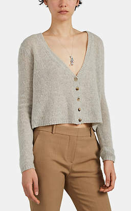The Row Women's Abigael Cashmere Crop Cardigan - Light Gray