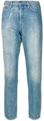 Mira Mikati high-rise glitter jeans