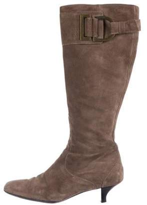 Max Mara Suede Knee-High Boots brown Suede Knee-High Boots