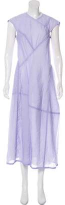Victoria Beckham Asymmetrical Cap Sleeve Maxi Dress w/ Tags