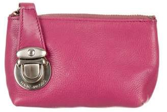 Marc Jacobs Leather Coin Purse Pink Leather Coin Purse