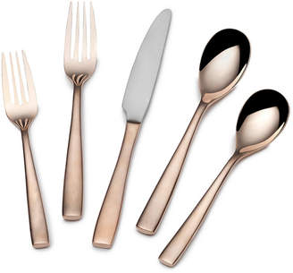 Mikasa Delano Rose Gold-Plated 20-Piece Flatware Set