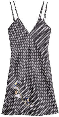 Carven Embroidred Silk Mini Dress