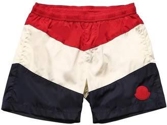 Moncler Striped Nylon Swim Shorts