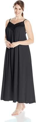 Shadowline Women's Plus Size Beloved 53 Inch Braided Spaghetti Strap Long Gown