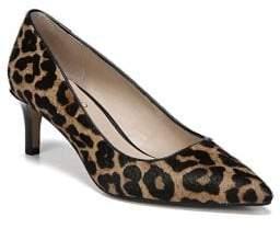 Franco Sarto Duran Pointy Leopard Print Calf Hair Pumps