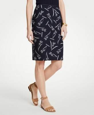 Ann Taylor Curvy Pineapple Pencil Skirt