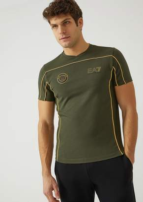 Emporio Armani Ea7 T-Shirt In Stretch Cotton Jersey