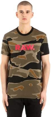 Tiger Camo Print Cotton T-Shirt