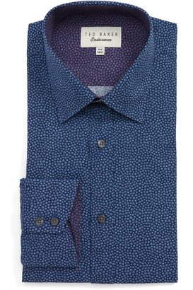 Ted Baker Endurance Belugar Extra Slim Fit Dot Dress Shirt