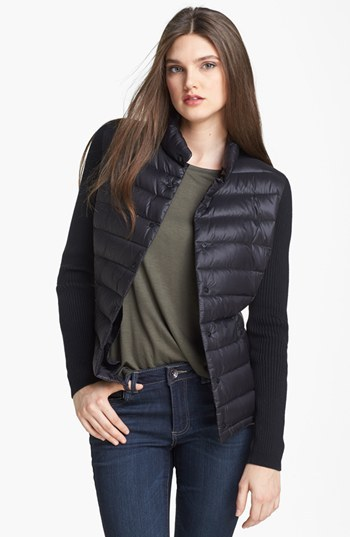 Calvin Klein Knit Sleeve Down Jacket