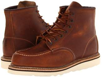 Red Wing Shoes 6 Moc Toe Men's Lace-up Boots