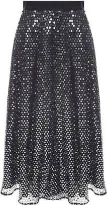 MSGM Sequin-embellished High-rise Midi Skirt