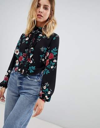 Glamorous rose print blouse