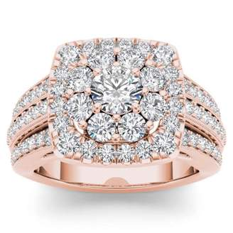 Imperial Star 2ct TW Diamond 14K Rose Gold Engagement Ring