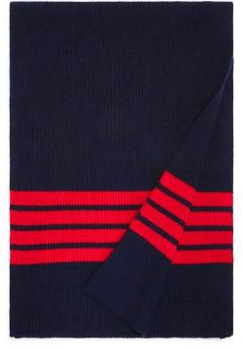 Bloomingdale's The Men's Store at Stripe-Accented Rib-Knit Scarf - 100% Exclusive