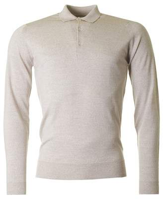 John Smedley Belpe Long Sleeved Knitted Polo