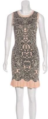 Alexander McQueen Jacquard A-Line Dress