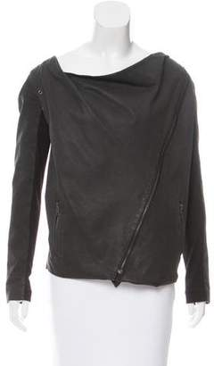 Elizabeth and James Asymmetrical Leather Jacket