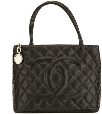 Chanel Black Quilted Caviar Medallion Tote (4077018)