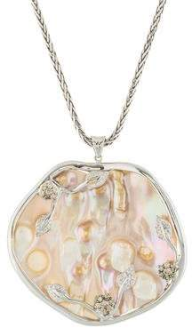 Mother of Pearl & Diamond Pendant Necklace