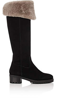 Barneys New York Women's Shearling-Lined Over-The-Knee Boots - Black
