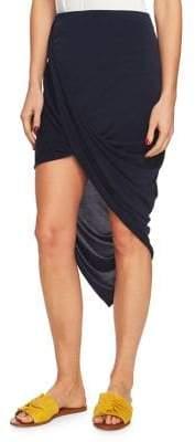 1 STATE 1.STATE Asymmetrical Wrap Bodycon Skirt