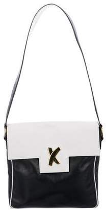 Paloma Picasso Bicolor Leather Shoulder Bag