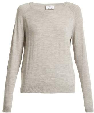 Allude Round-neck long-sleeved wool T-shirt
