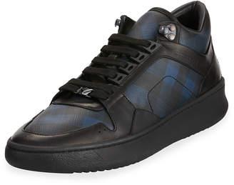 Burberry Men's Platform Canvas Sneakers
