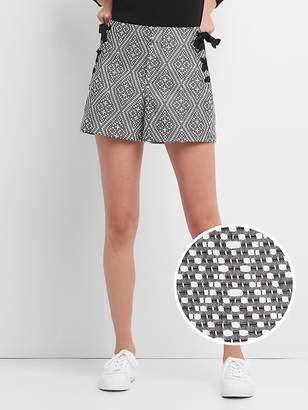 """Gap High Rise 4"""" Woven Shorts with Lace-Up Detail"""