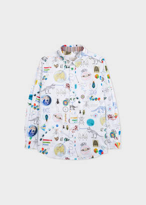 Paul Smith Boys' 2-6 Years 'Scientific' Print Long-Sleeve Shirt