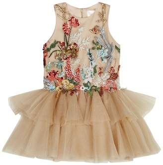 Mischka Aoki Robin Embellished Tulle Dress