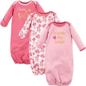 Luvable Friends Baby 3 Pack Cotton Gown