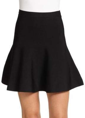 BCBGMAXAZRIA Ingrid Ponte Knit Fit-&-Flare Skirt