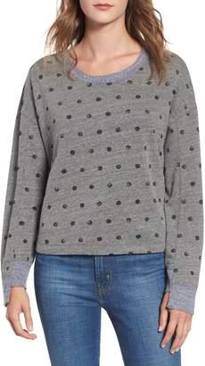 Splendid Paint Dot Cotton Blend Sweatshirt