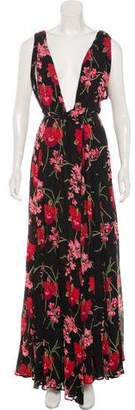 Reformation Floral Flared Gown