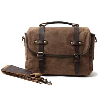 EAZO - Waxed Canvas Bag With Dslr Camera Sleeve In Brown