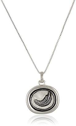 "Sterling ""Wings Of Friendship"" Reversible Pendant Necklace with Feather"