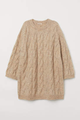 H&M Cable-knit Sweater - Beige
