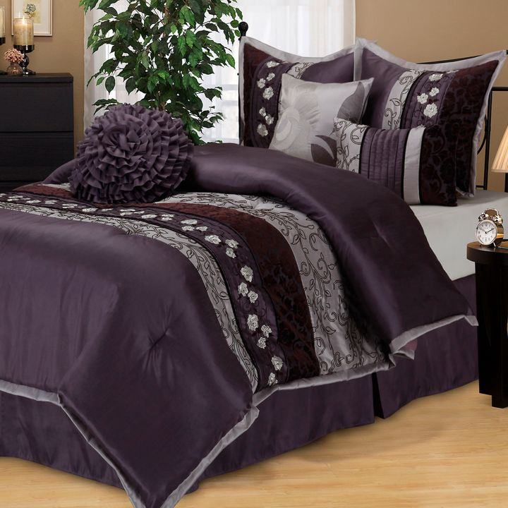 Bed Bath & Beyond Riley Comforter Set in Purple